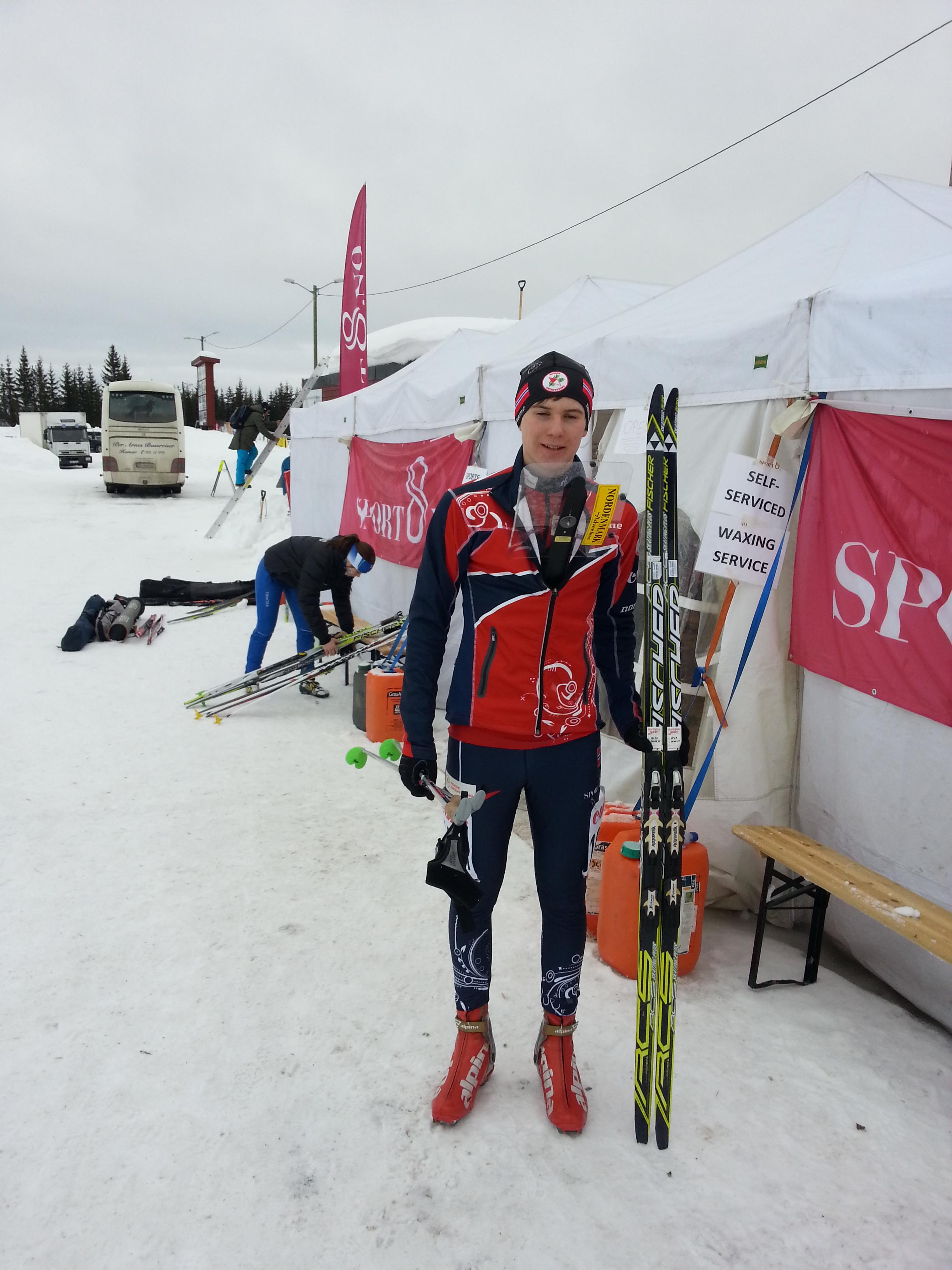 God innsats av Hallvard i ungdoms-ski-o-EM